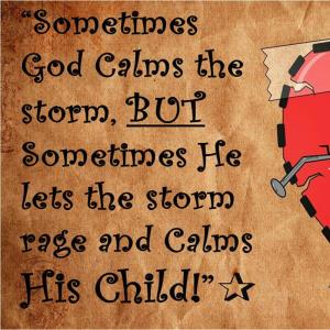 Calm Storm or Calm Child