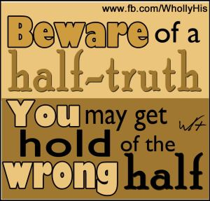 Half Truth=Doubt WH 96 DPI