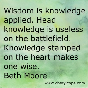 Wisdom is Knowledge Applied