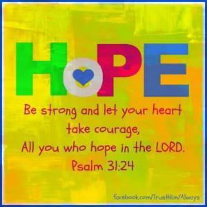 Be Strong All Who Hope in God Ps 31