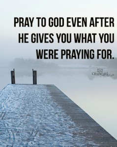 Pray After He Answers:Unknown