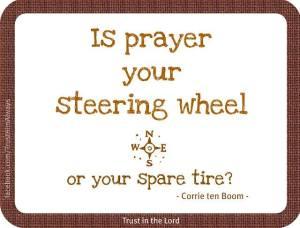 Prayer Steering Wheel:Corrie ten Boom