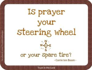 Prayer Steering Wheel:Corrie ten Boom