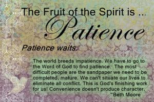 *Fruit:Patience