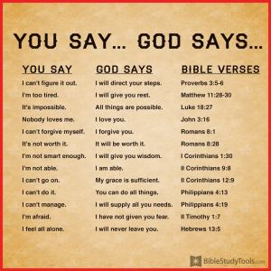 *You Say:God Says