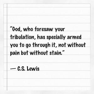 Tribulation:CS Lewis