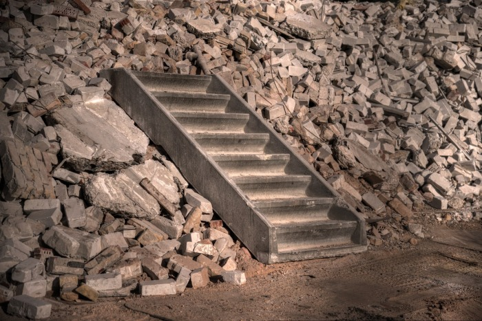 stairsrubble